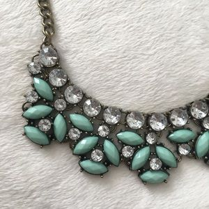 Jewelry - Turquoise and Brass Statement Necklace